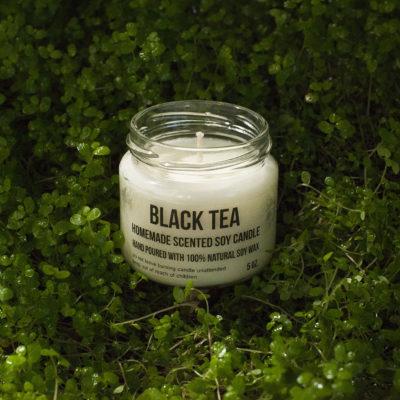 Bougies de Soja - parfum the noir