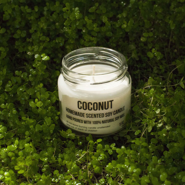 Bougies de Soja - parfum noix de coco